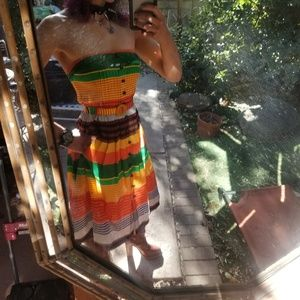 PLENTY BY TRACY REESE Striped Pocketed Tube Dress